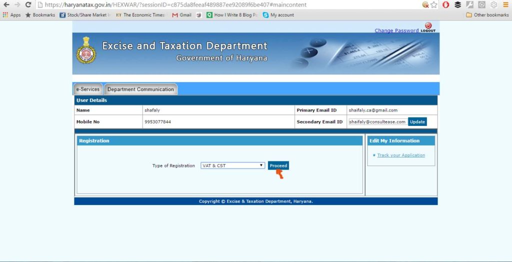 Step by step guide on Haryana VAT/CST registration online