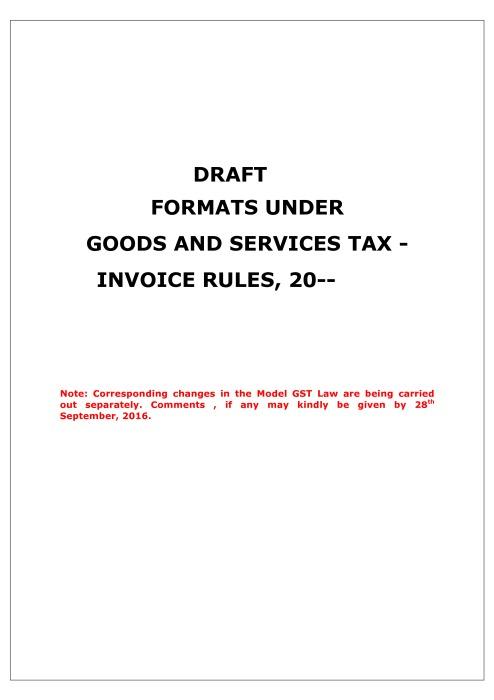 draft invoice gst