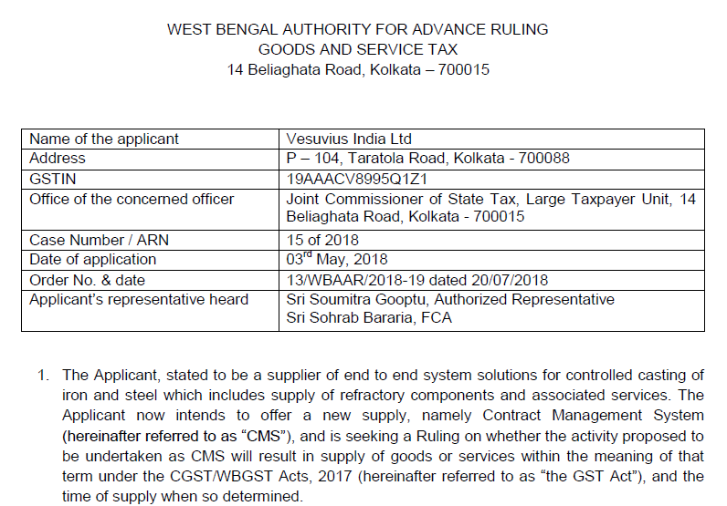 The time of supply will be the Date of Invoice in case of continuous supply of service: AAR