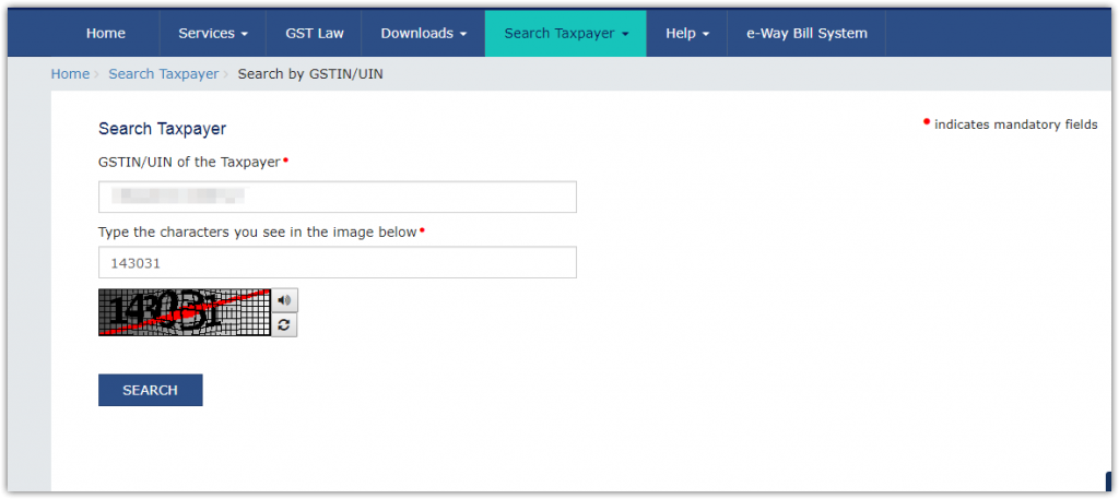 Find a taxpayer without login on GSTN - CONSULTEASE COM