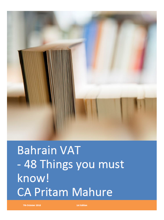 e-book on VAT in Bahrain by CA Pritam Mahure