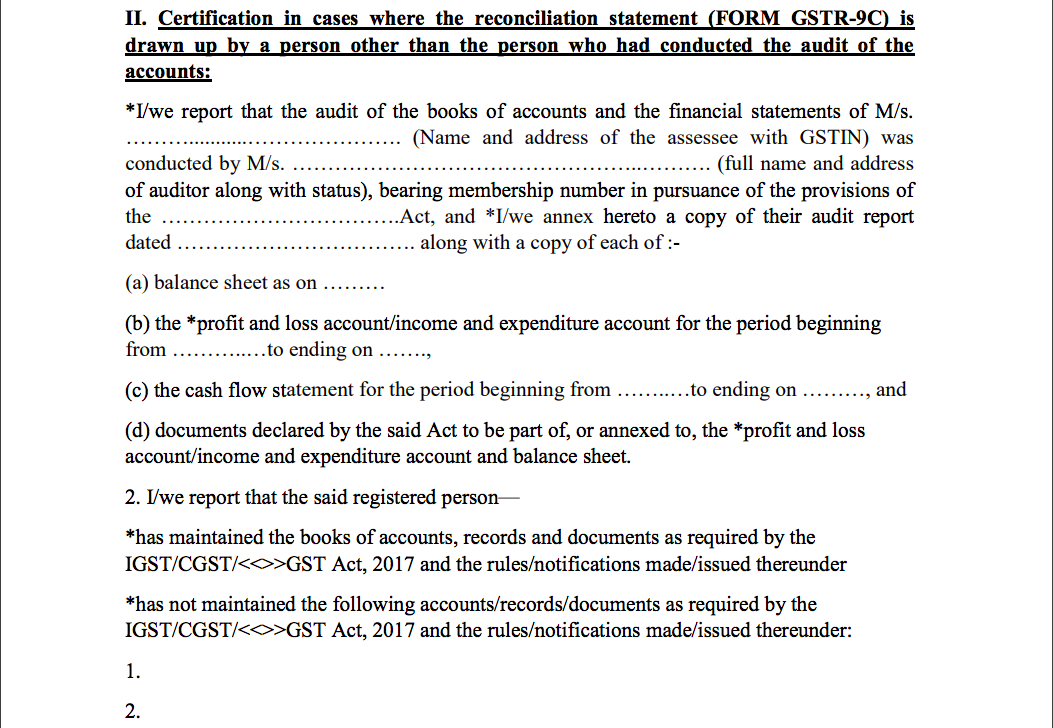 GST Audit certificate 001