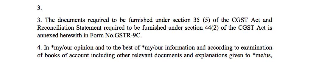 GST Audit certificate 002