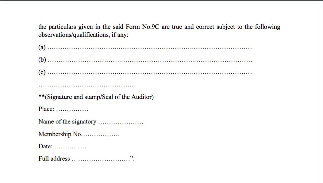 GST Audit certificate 004
