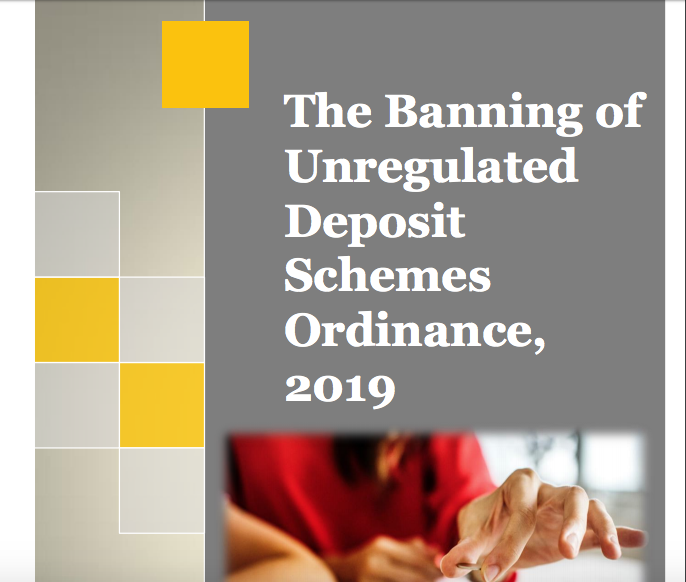Banning of unregulated deposits