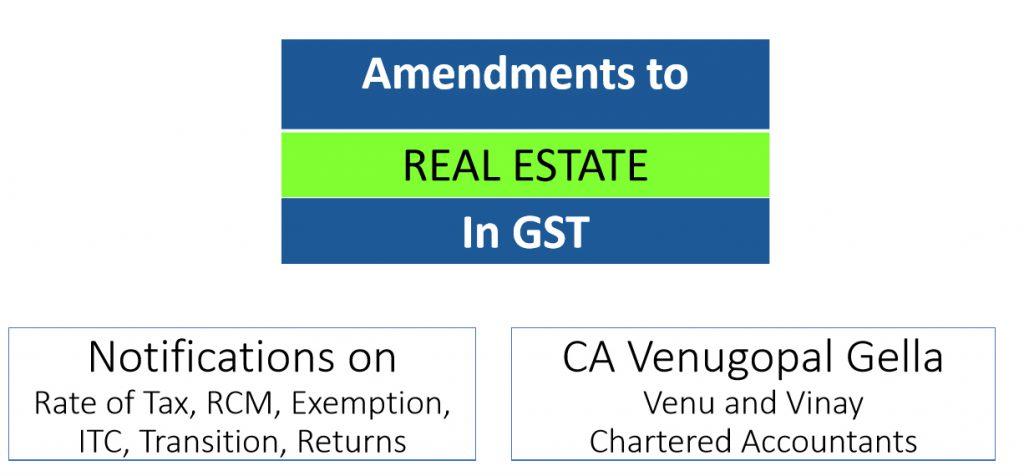 Amendment to Real Estate In GST