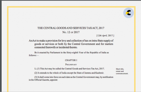 CGST Act with amendments