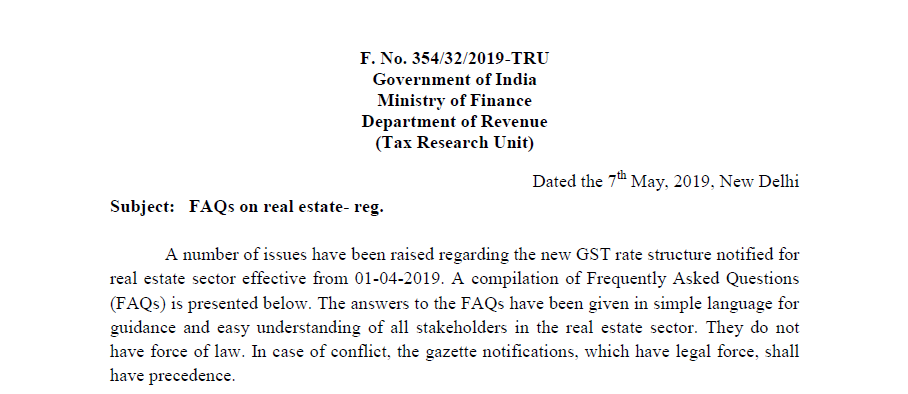 GST FAQ for Real Estate Sector dated 7th May 2019.pdf - Adobe Acrobat Reader DC 2019-05-08 17.11.17