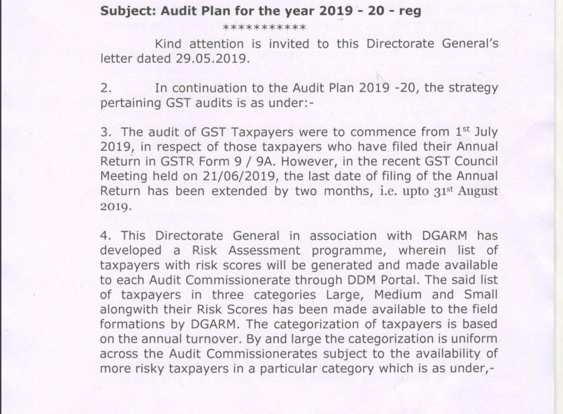 GST audit plan 01