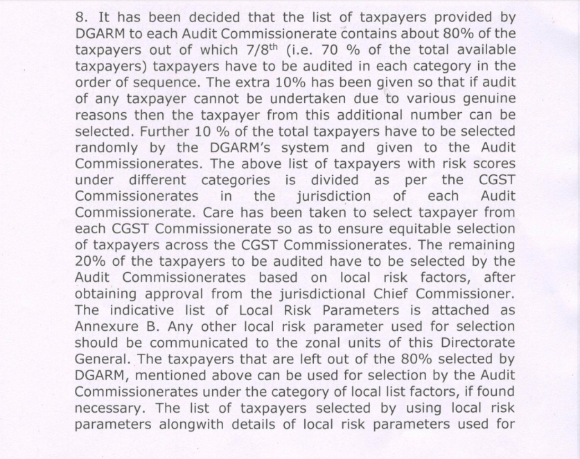 audit plan by deptt