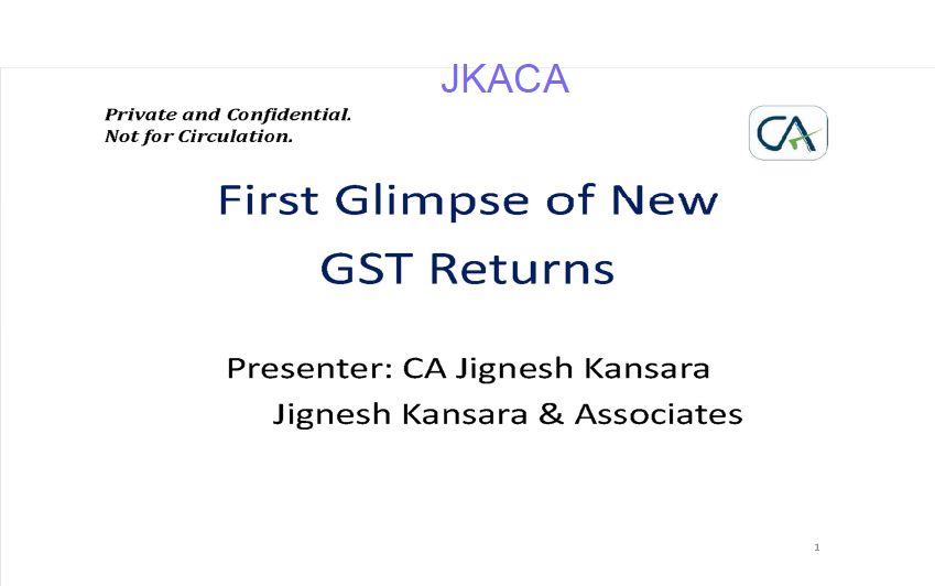 First glimpse of new GST return