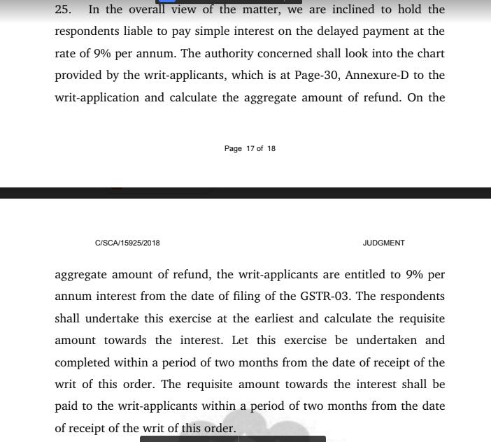 interest on pending IGST refund