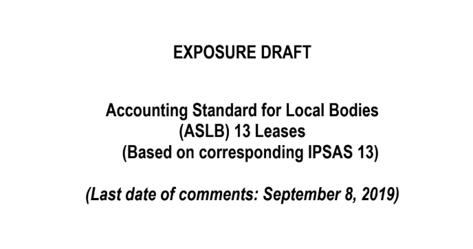 exposure draft on ASLB lease