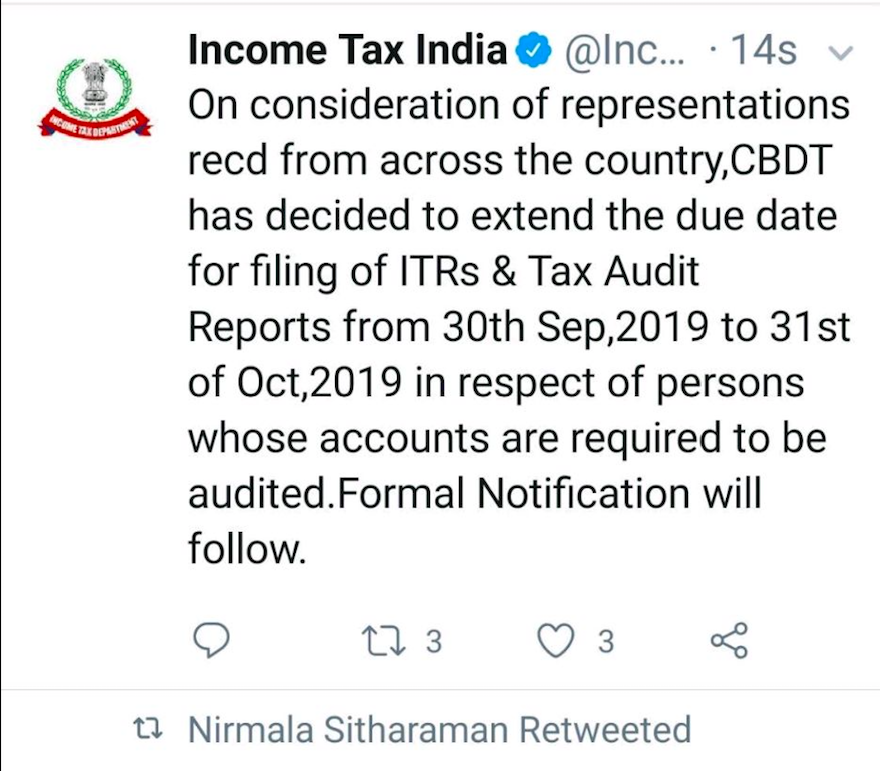 Extension of tax audit date