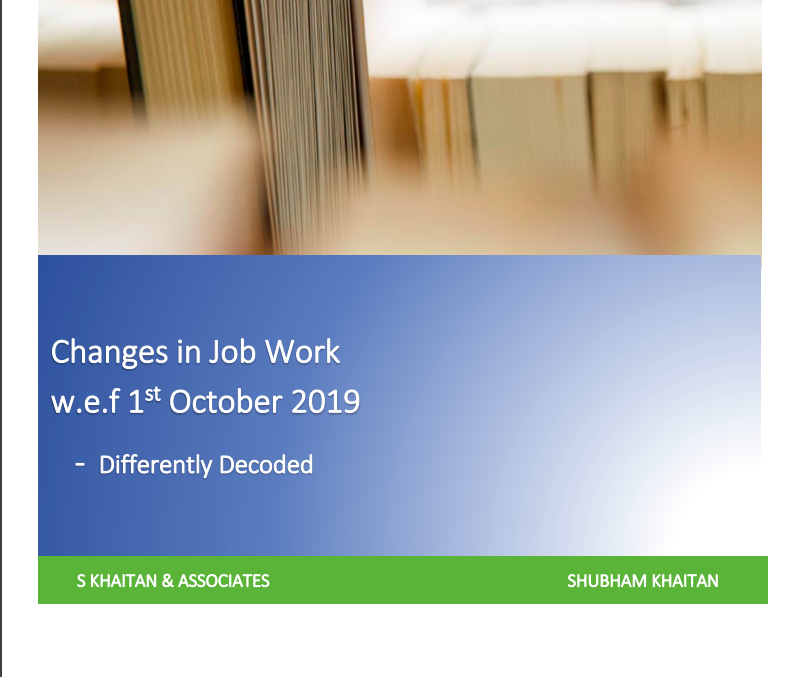 changes in job work rates
