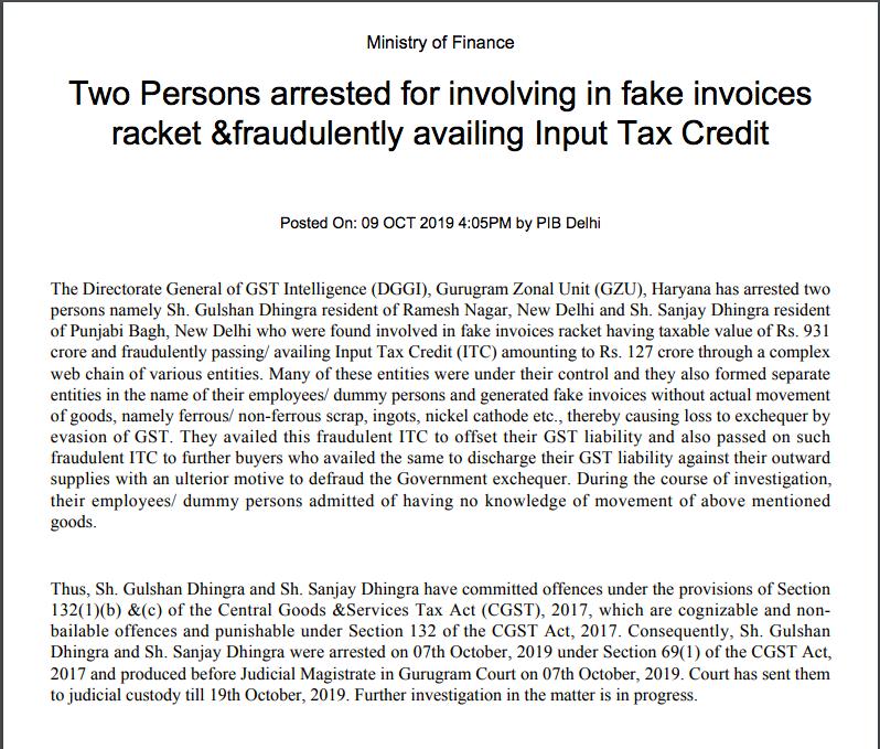 fake invoice racket