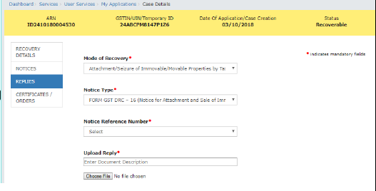 Filing reply to Form GST DRC-22 against proceeding