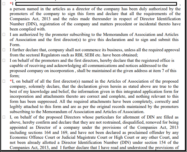 New Form for Company Incorporation(SPICe+)