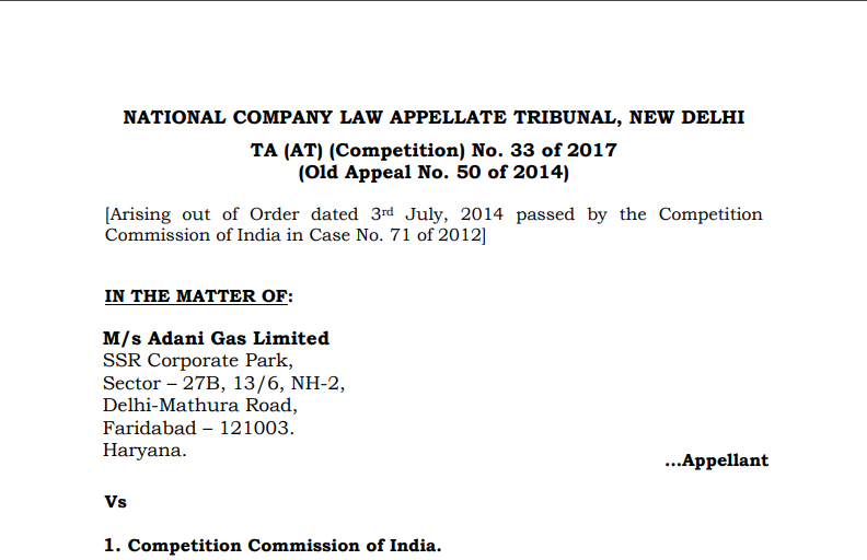 NCLAT Confirms Penalty on Adani Gas for Abuse of Dominant Position