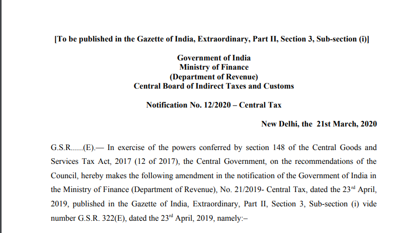 Waive off the requirement for furnishing FORM GSTR-1 for 2019-20 for taxpayers who could not opt for availing the option of special composition scheme under notification No. 2/2019-Central Tax (Rate)