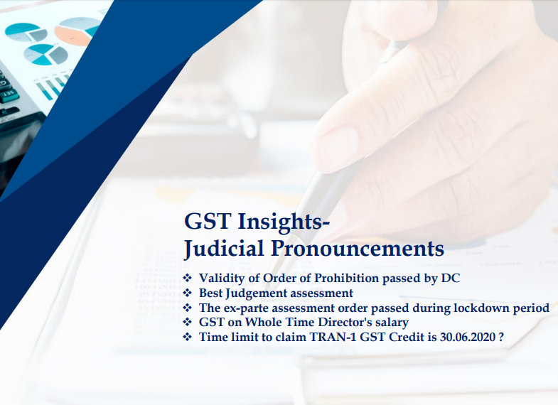 GST Insights Judicial Pronouncements