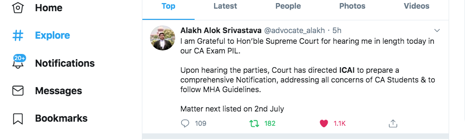 Today SC asked ICAI