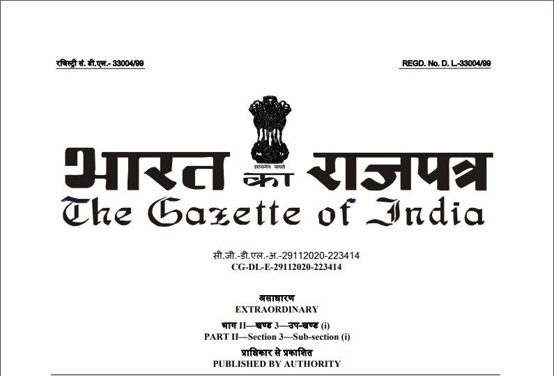 Notification No. 89/2020–Central Tax