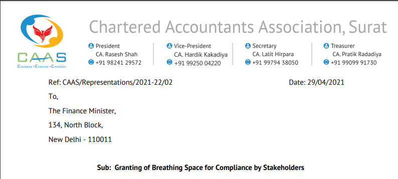 Granting of Breathing Space for Compliance by Stakeholders