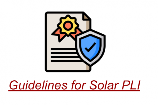 Guidelines for Solar PLI