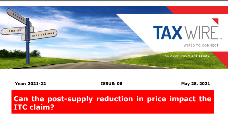 Can the post-supply reduction in price impact the ITC claim?