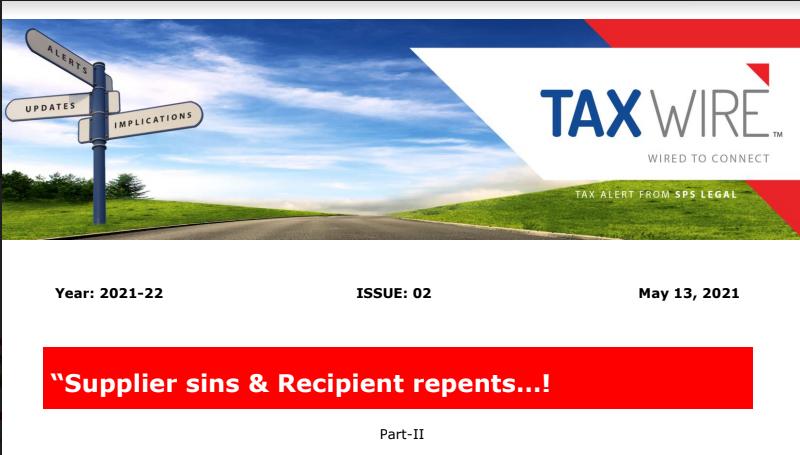 """Supplier sins & Recipient repents...! - Part-II"