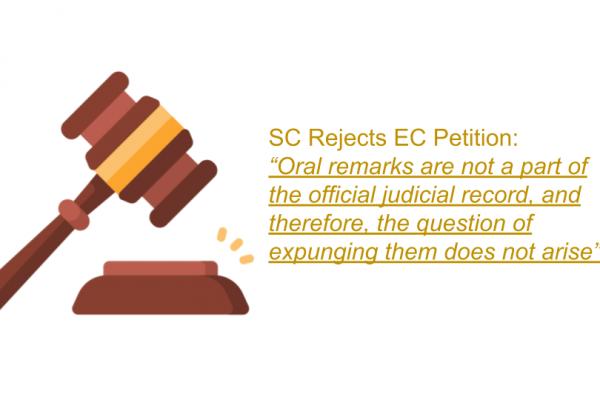 SC Order in the case of The Chief Election Commissioner of India Versus M.R Vijayabhaskar