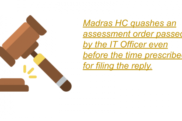 Madras HC Order in the case of Antony Alphonse Kevin Alphonse V/s. The Income Tax Officer