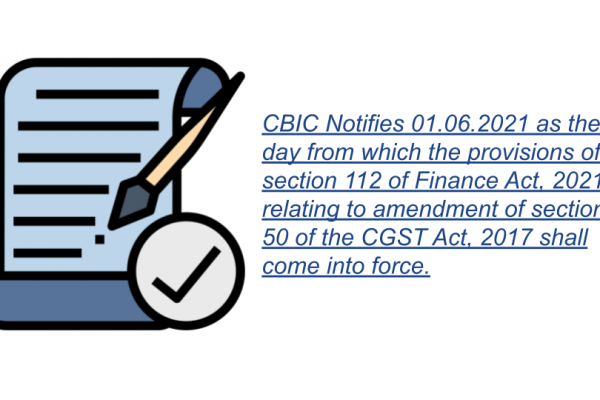 Notification No. 16/2021 – Central Tax