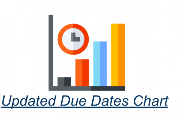 Updated Due Dates Chart