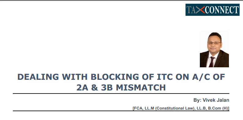 Facing Block Credit Under GST Rule 86A & Notices for GSTR 2A & 3B Mismatch