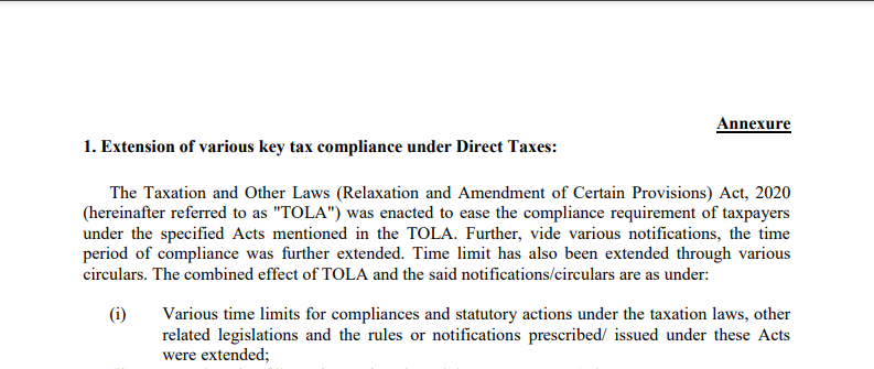 Tax exemption to ameliorate stress due to COVID-19
