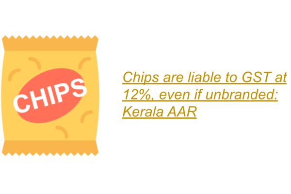 Kerala AAR in the case of Shri N.M. Thualseedharan, M/s. N.V. Chips.