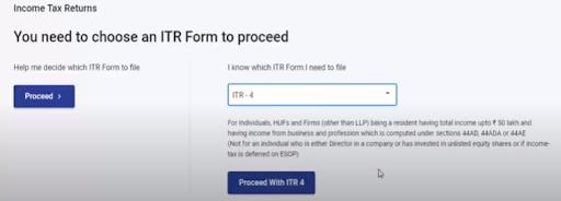 choosing of the itr form 1