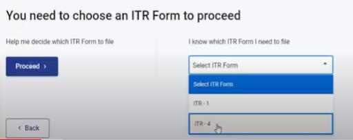 choosing of the itr form