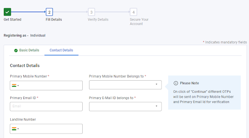 provide your contact details