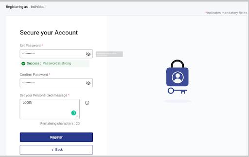 set your password.