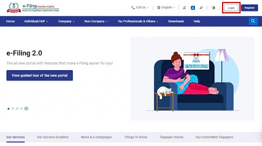 visit the income tax department homepage