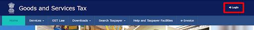 go to gst.gov.in & click on login