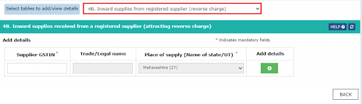 inward supplies from a registered supplier (reverse charge)