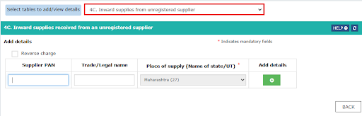 inward supplies from unregistered suppliers-